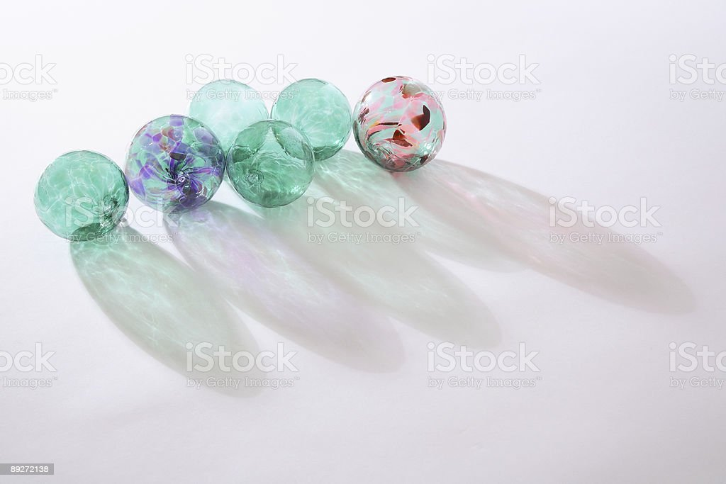 Glass Balls stock photo
