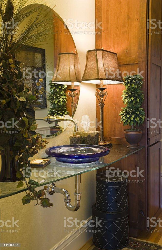 Glass Bathroom Vanity stock photo