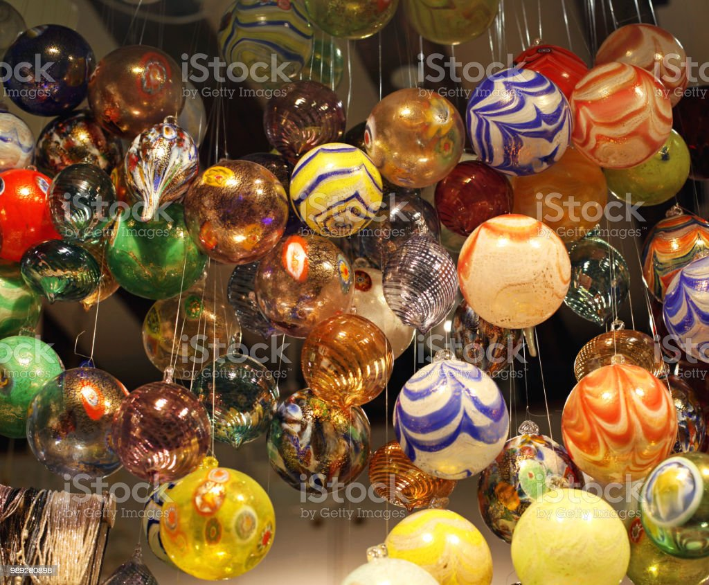 Glass Baubles stock photo