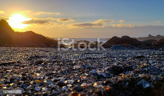 Sunset on Glass Beach