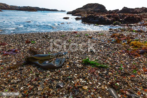 Glass beach in California near Fort Bragg