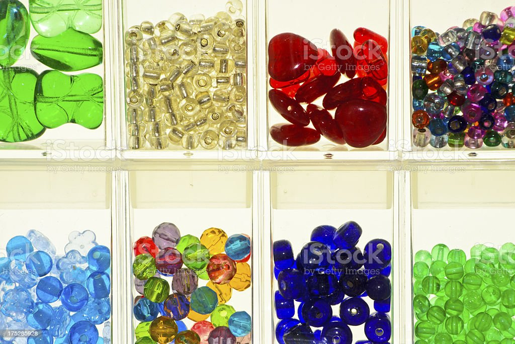 Glass Bead Collection royalty-free stock photo