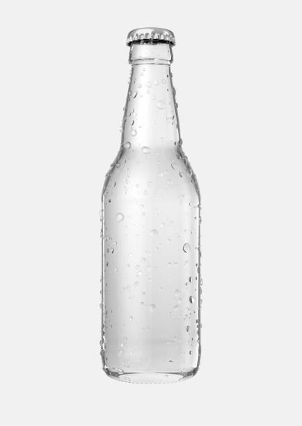 Botella de cerveza de cristal - foto de stock