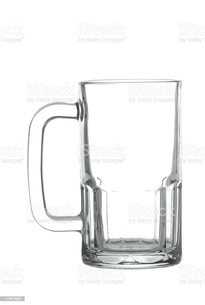 Glass beer mug w/clipping path royalty-free stock photo