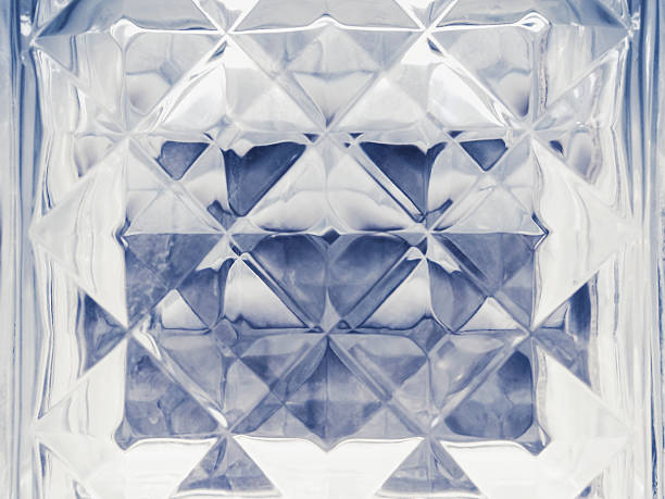 Glass Block Crystal surface Wall decoration Background stock photo