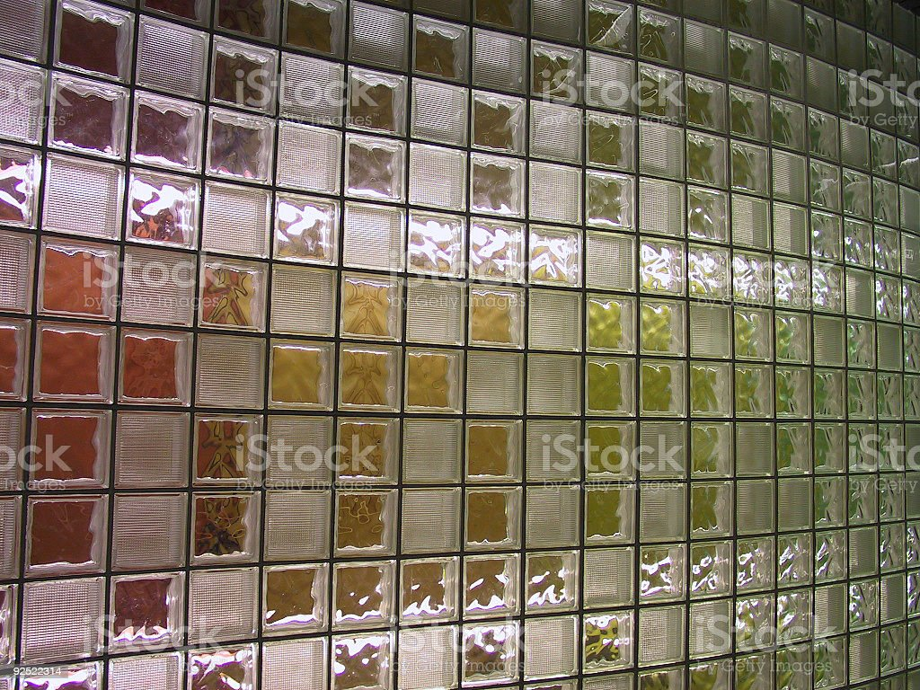 glass block wall royalty-free stock photo
