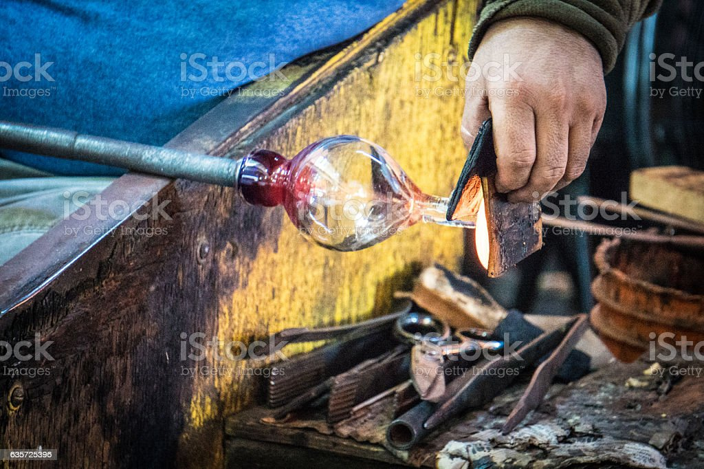 Glass Blowing Factory stock photo