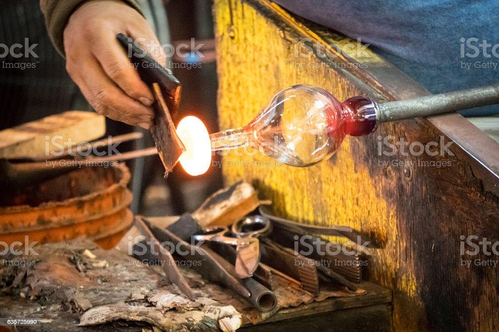 Glass Blowing Factory - Lizenzfrei Arbeiten Stock-Foto