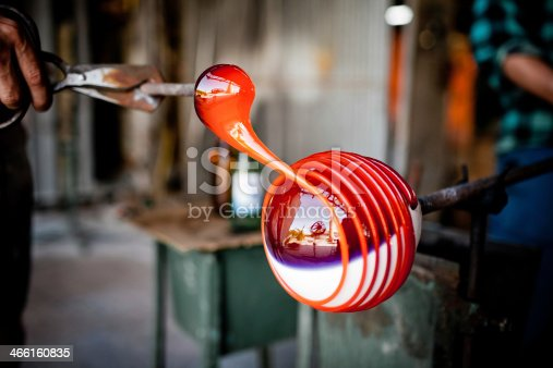 istock glass blowing in factory 466160835
