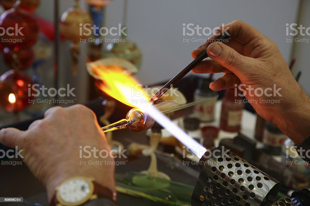 Glass Blowing royalty-free stock photo