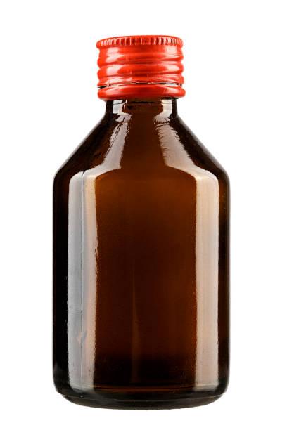 glasflasche für medizinisches präparat - braunglasflaschen stock-fotos und bilder