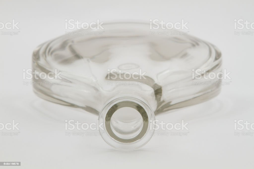 glass bottle isolated stock photo
