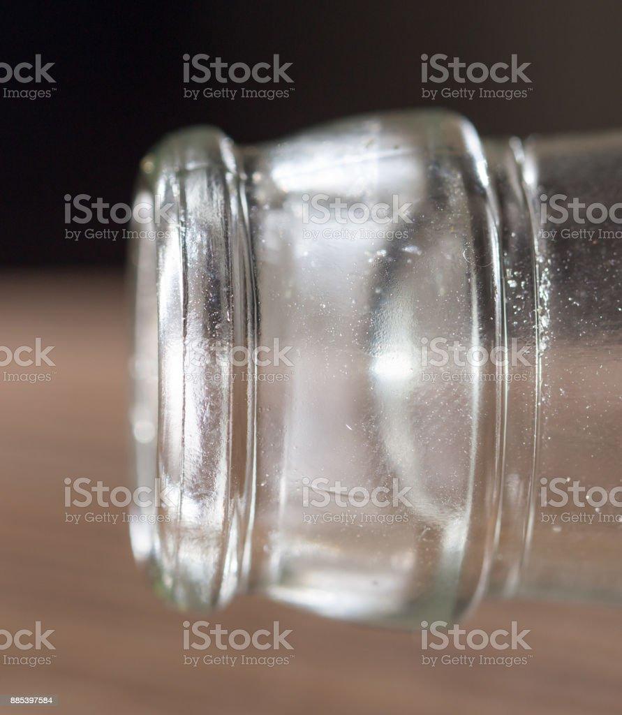 glass bottle neck. macro . Photos in the studio