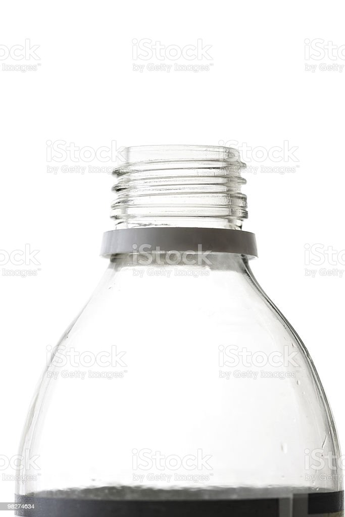 Glass Bottle on White royalty-free stock photo