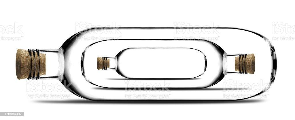 Glass bottle royalty-free stock photo