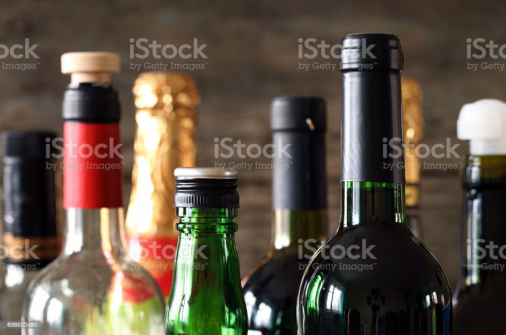 Glass bottle stock photo