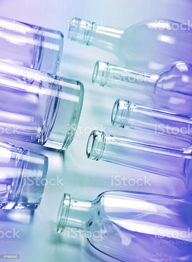 Glass bottle royalty-free stock photo