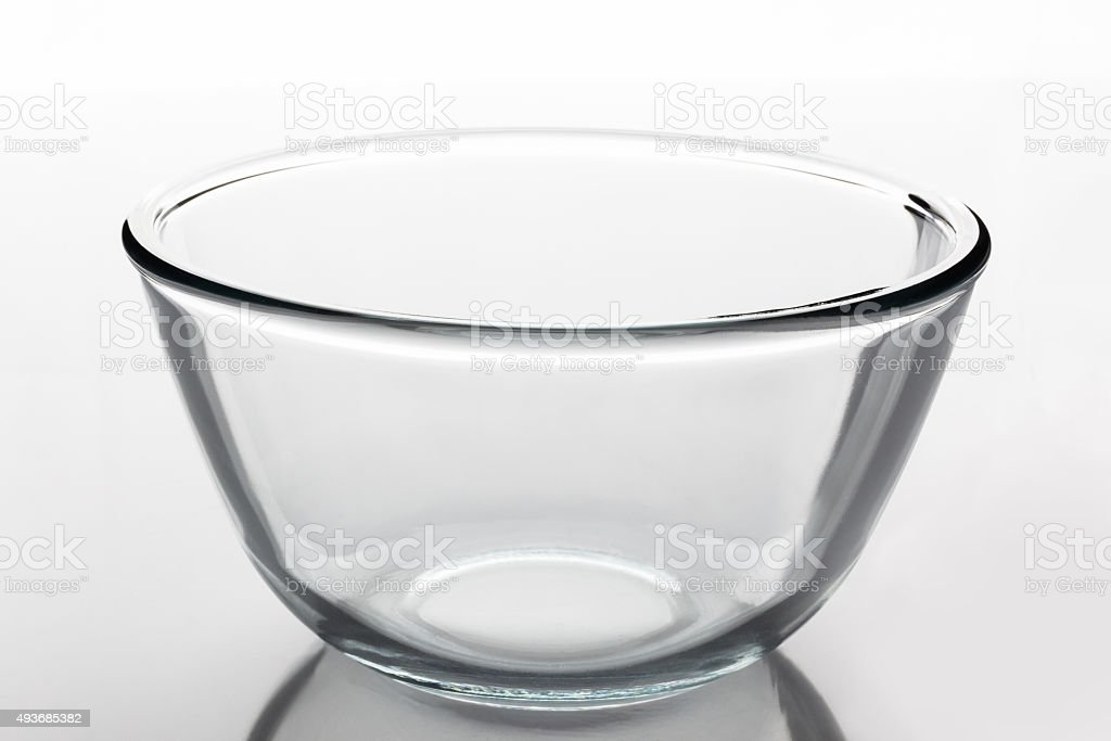 Glass bowl from side stock photo