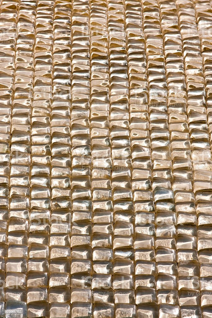 Glass brick wall royalty-free stock photo