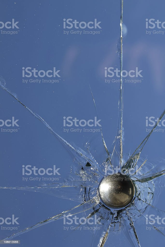 Glass  broken  cracks  splinters stock photo