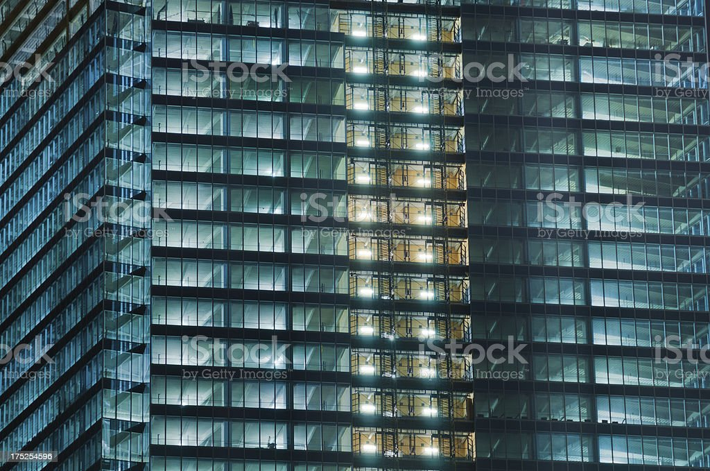 Glass building construction royalty-free stock photo