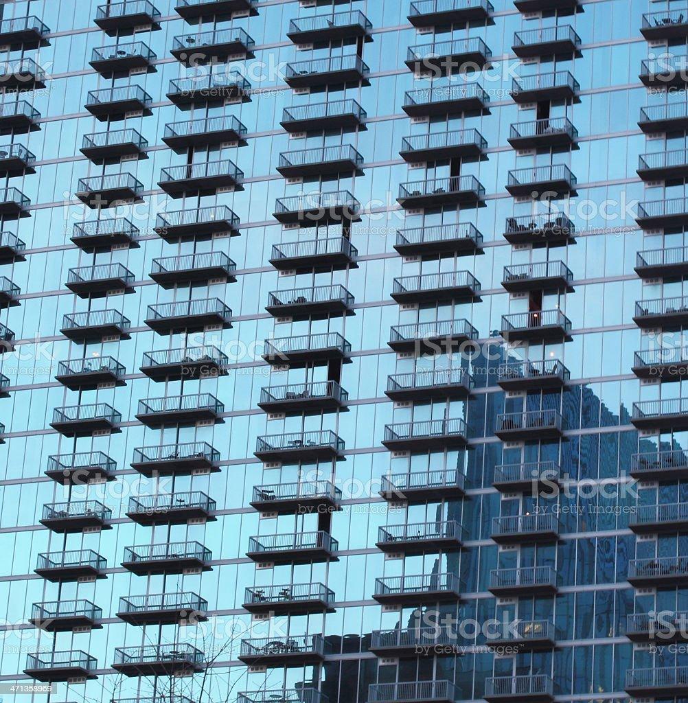 Glass Building in Buckhead District, Atlanta Georgia stock photo