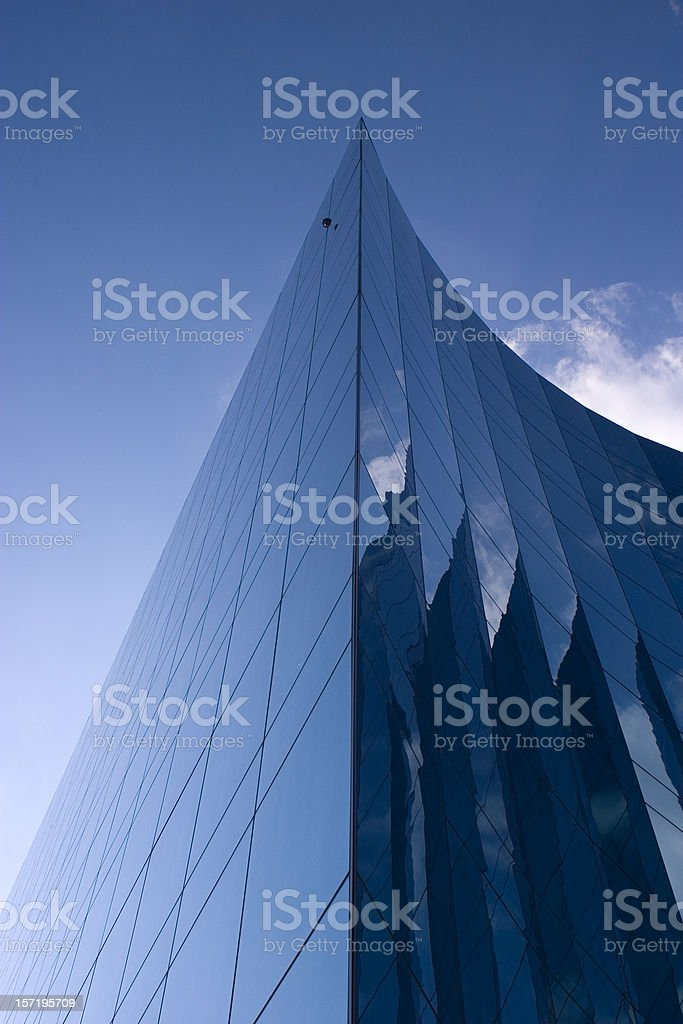 Glass Building  reflections royalty-free stock photo