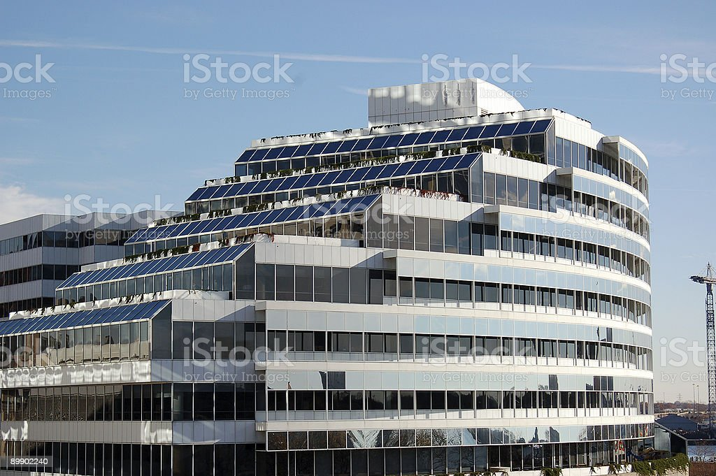 Glass Building with a mirror finish royalty-free stock photo