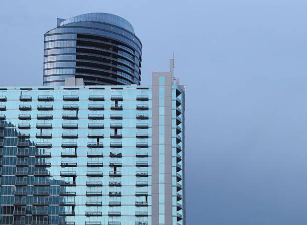 Glass buildings in Buckhead District, Atlanta Georgia stock photo