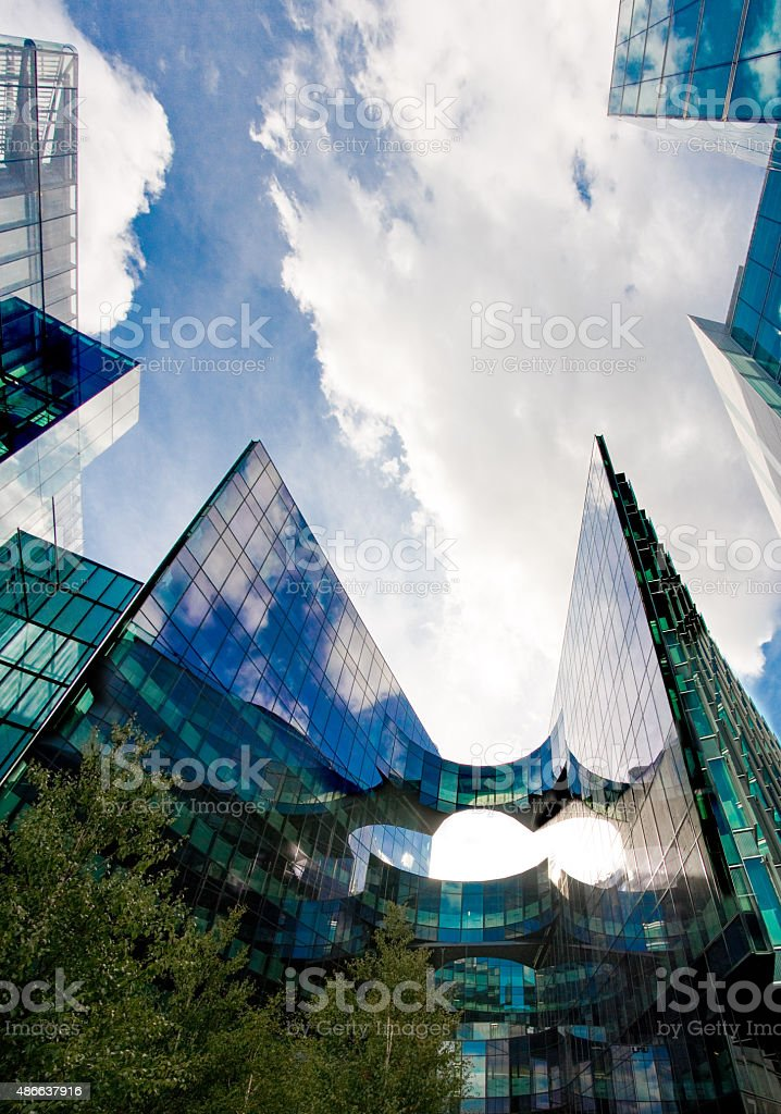 Glass Buildings stock photo
