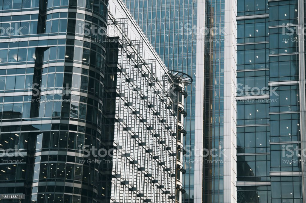 Glass buildings royalty-free stock photo