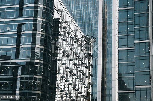 Glass Buildings Stock Photo & More Pictures of Bank