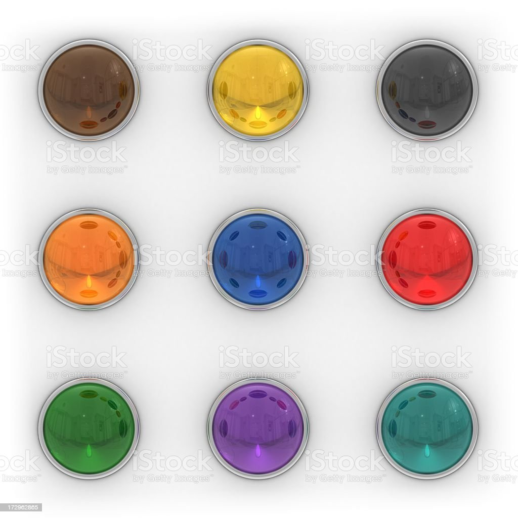 Glass Buttons royalty-free stock photo