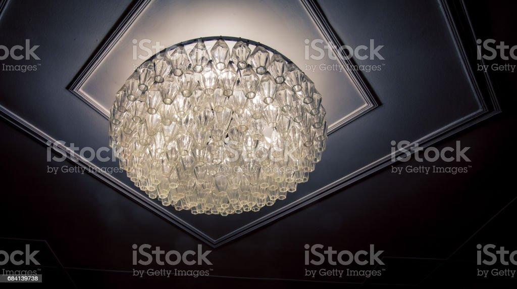 glazen plafond armatuur royalty free stockfoto