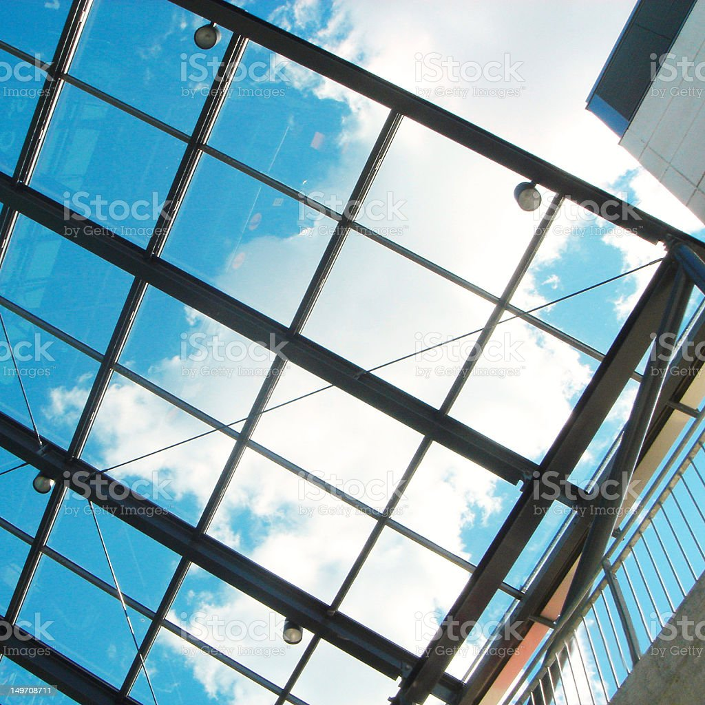 Glass ceiling royalty-free stock photo