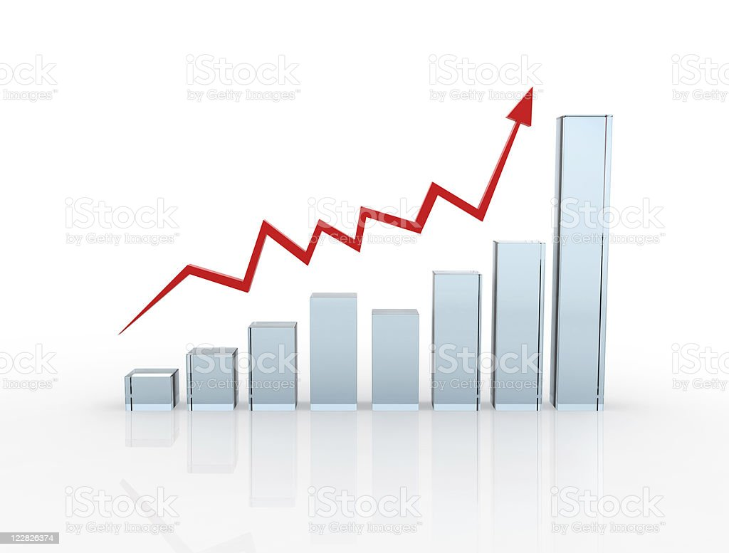 Glass Chart royalty-free stock photo