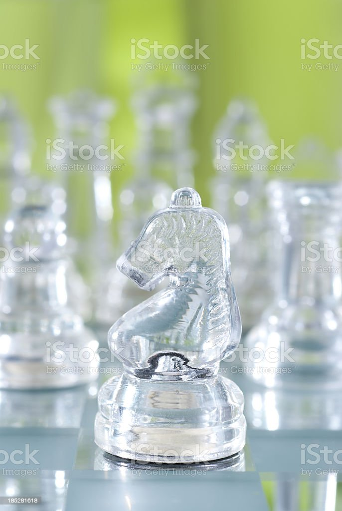 Glass Chess Piece royalty-free stock photo