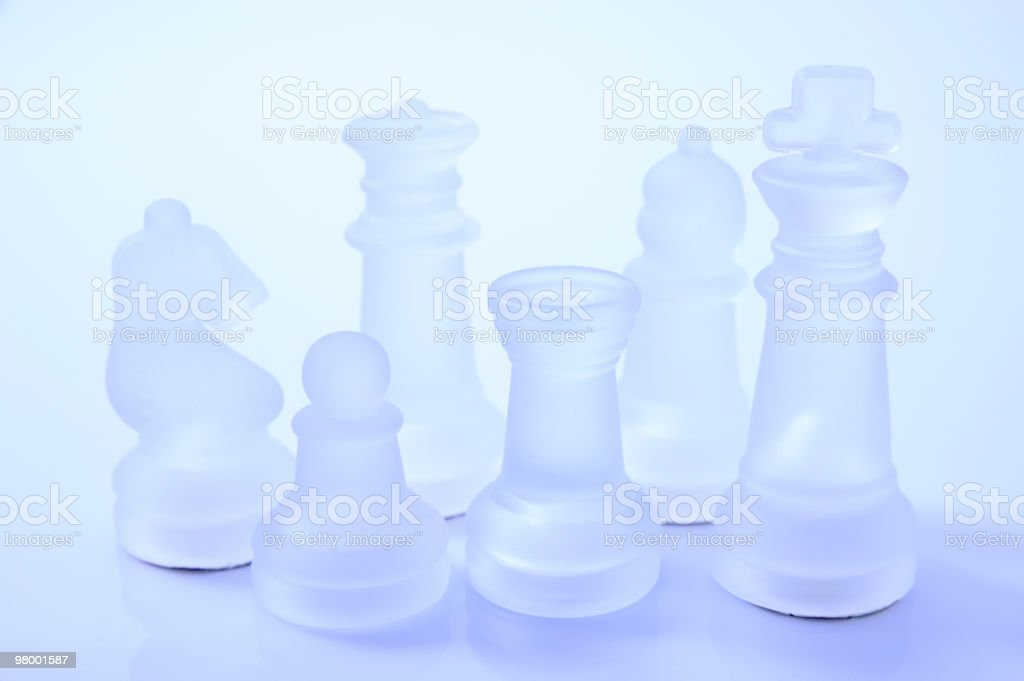 Glass chess pieces royalty-free stock photo