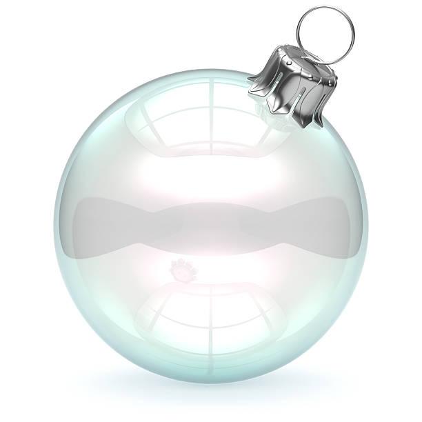 boże narodzenie szkła piłkę puste zdobienie zapełniliśmy jasne puste białe - new year zdjęcia i obrazy z banku zdjęć