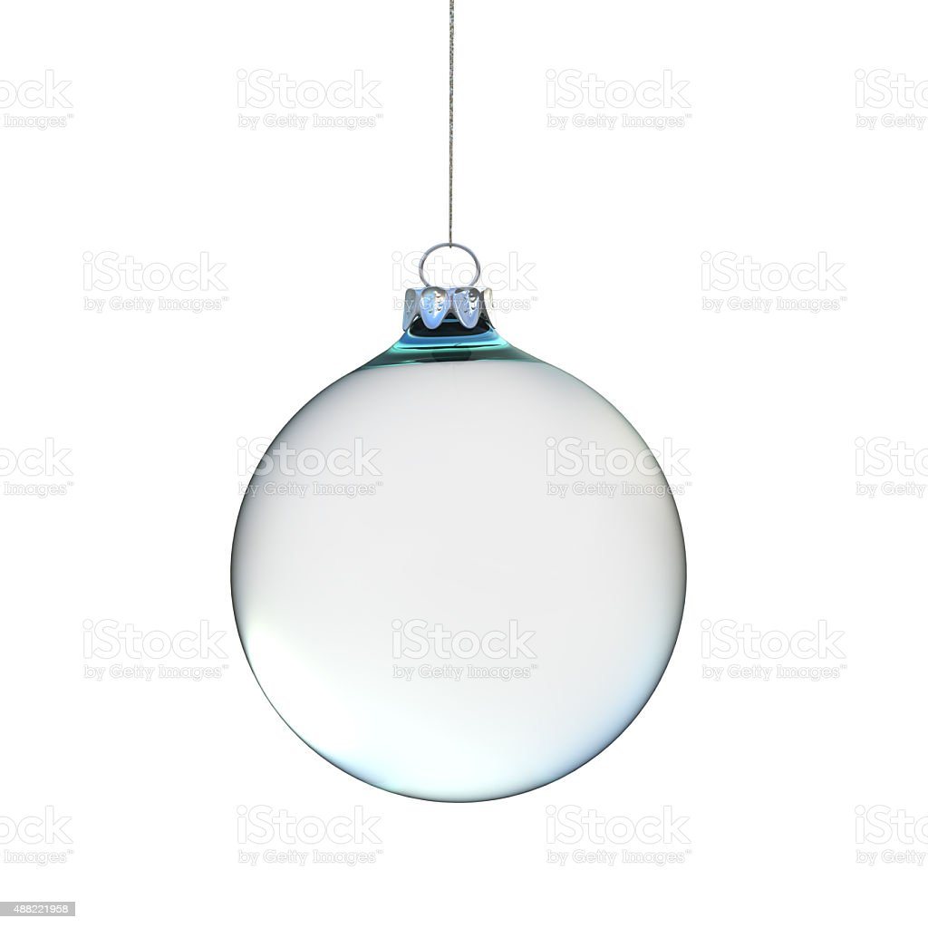 glass Christmas ball on a white background stock photo