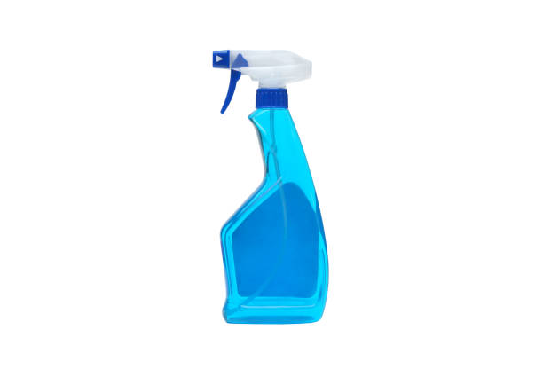 A glass cleaner spray stock photo