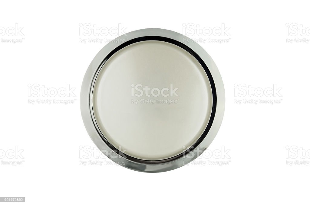 Glass closed jar of facial cream on white isolated. photo libre de droits