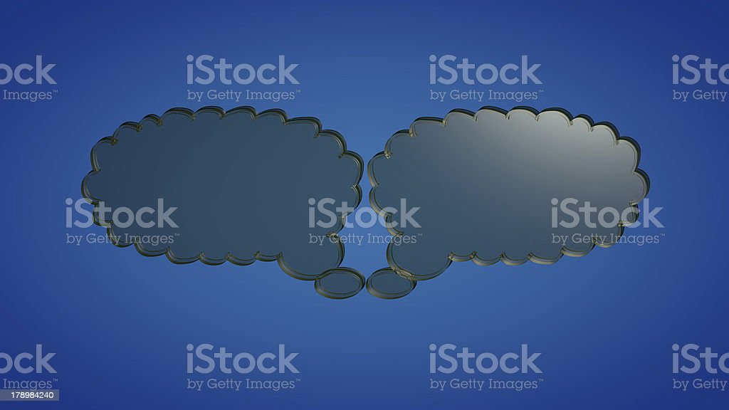 Glas clouds royalty-free stock photo
