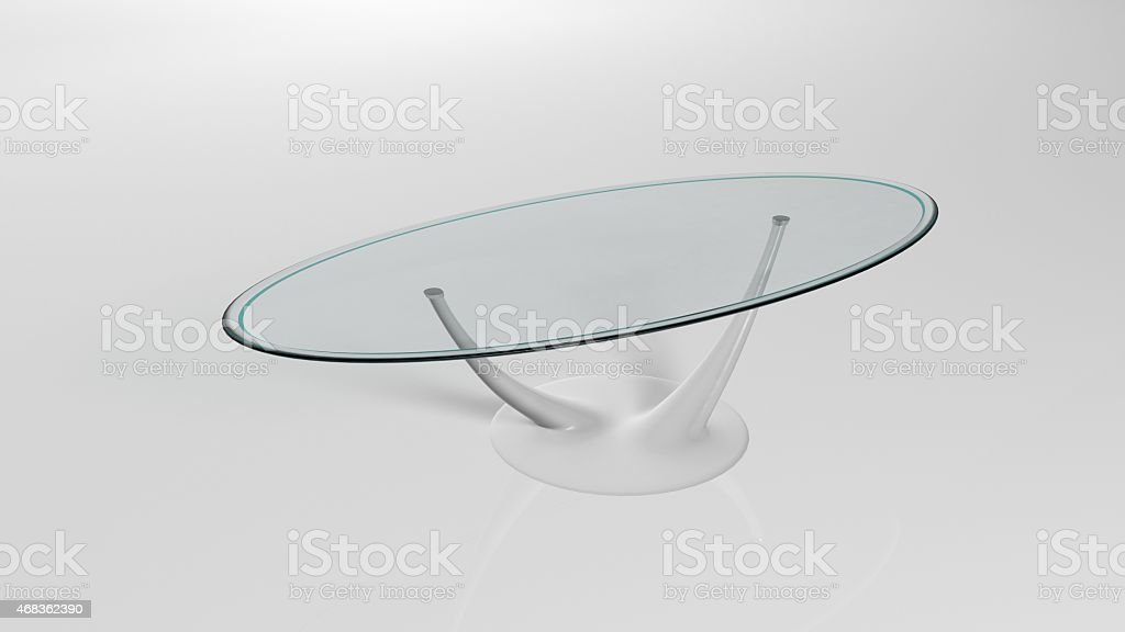 Glass coffee table royalty-free stock photo