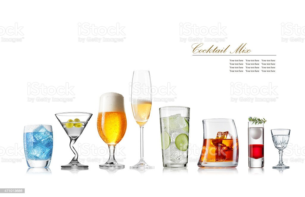 glass collection stock photo
