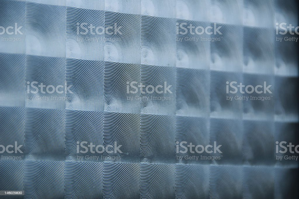 Glass concentric circles stock photo
