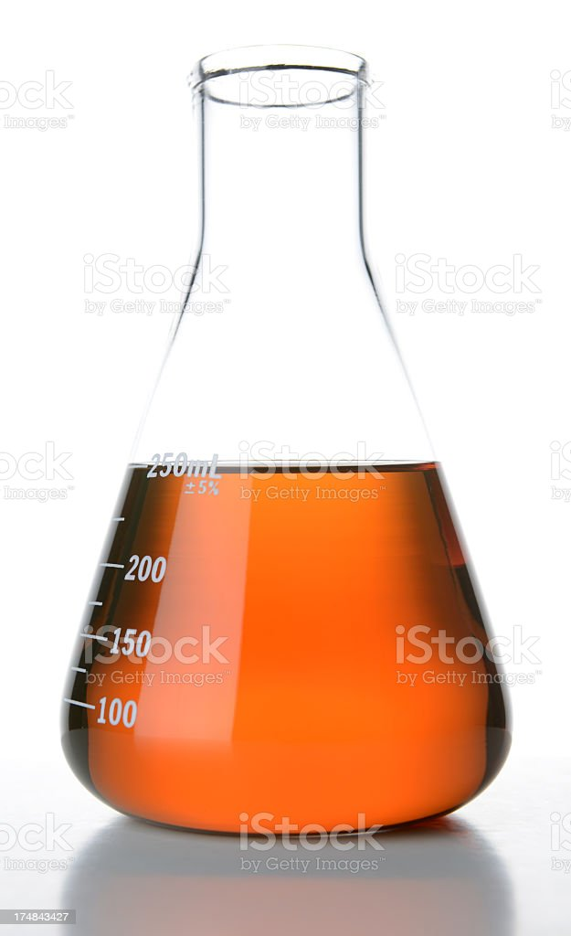 Glass Container of New Motor Oil royalty-free stock photo