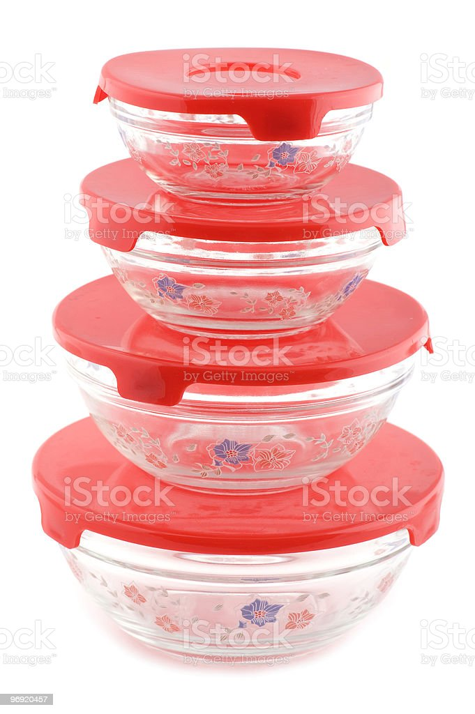 glass container on white royalty-free stock photo