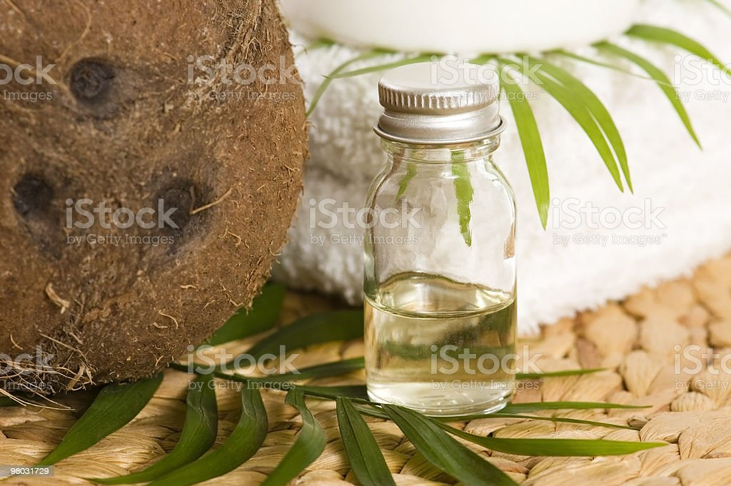 Olio di cocco per Terapia alternativa foto stock royalty-free