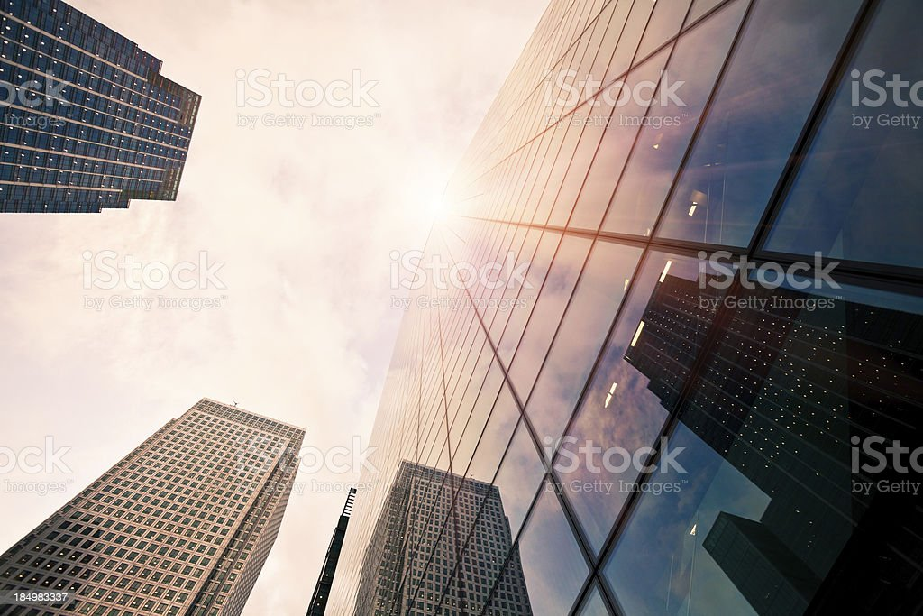 Glass Corporate Buildings in London stock photo